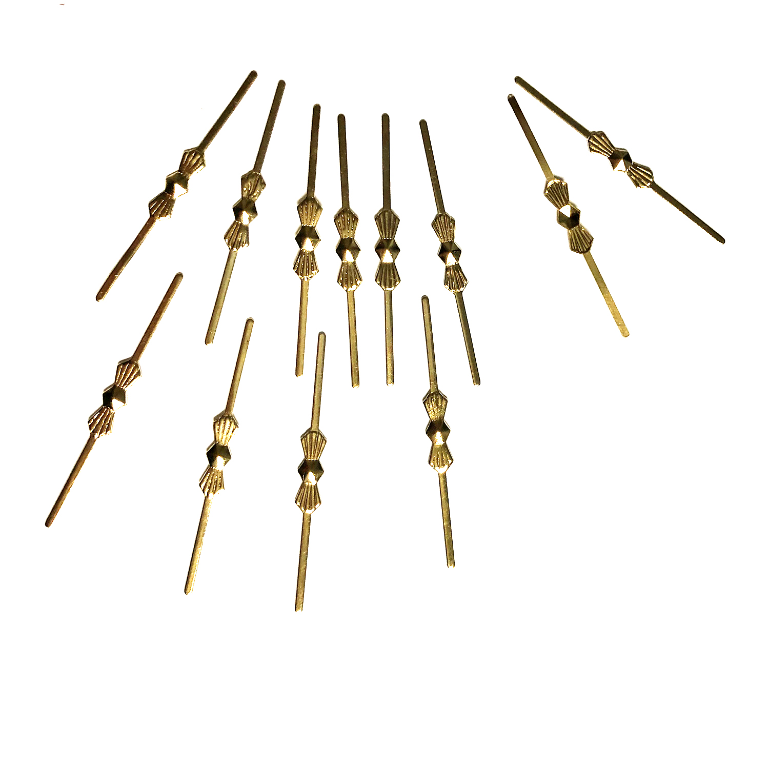 40mm Bow Tie Connectors, GOLD  (12 pack)