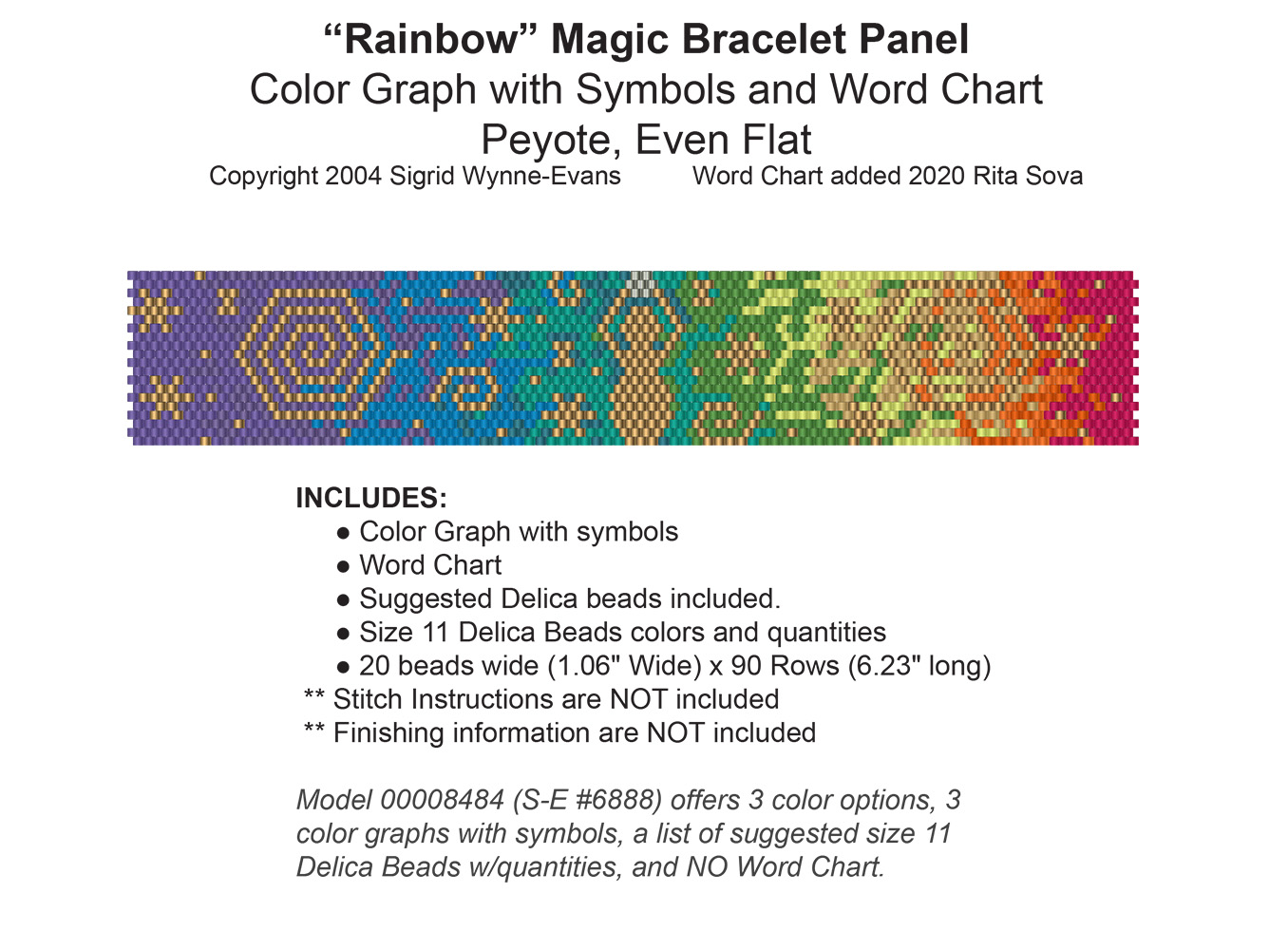 Rainbow Magic Bracelet (Word Chart)