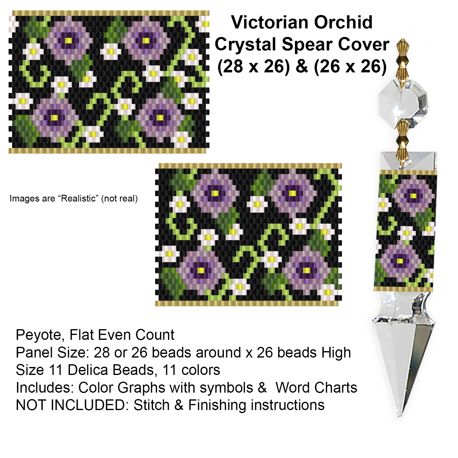 Victorian Orchid  Crystal Spear Covers