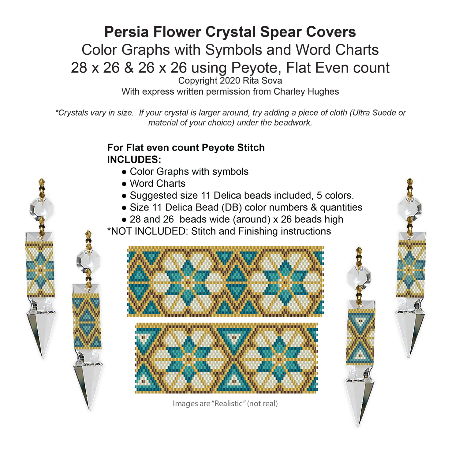 Persia Flower Crystal Spear Covers
