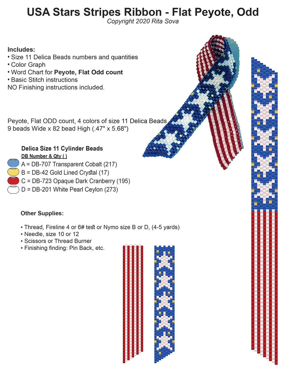 USA Stars Stripes Ribbon