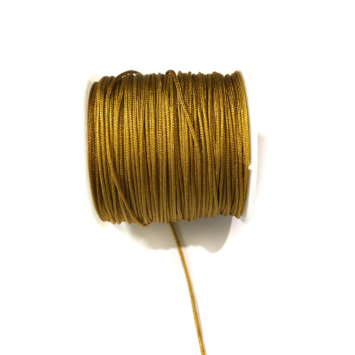 #0 Bugtail, 1mm Polyester cord, 40 yards, Antique Gold