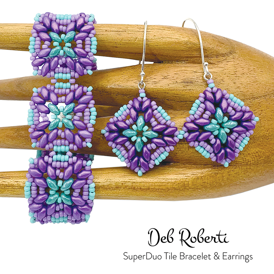 SuperDuo Tile Bracelet & Earrings