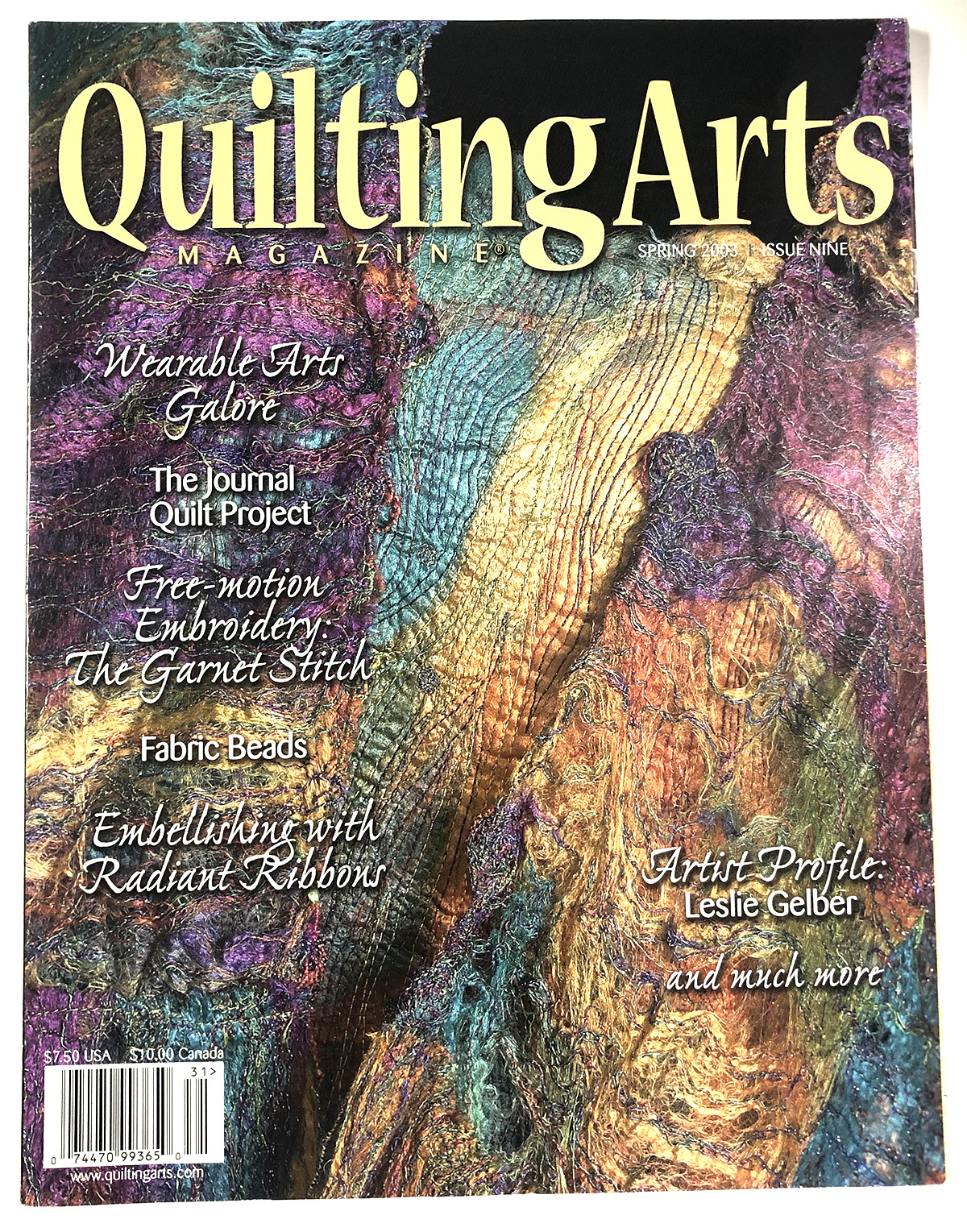 Quilting Arts Magazine Issue 9  2003 Spring