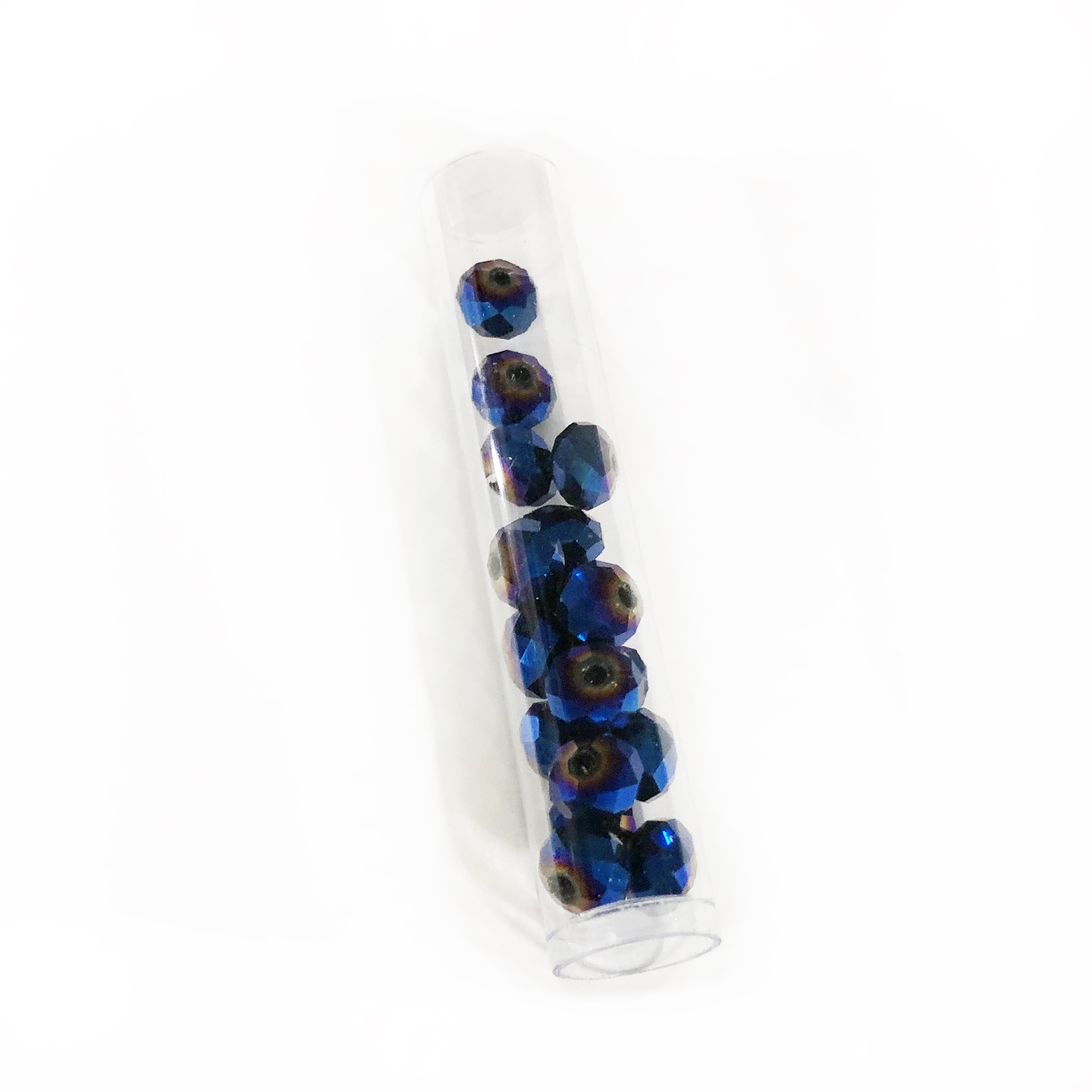 Crystal Rondelle, 6 x 8mm Blue Iris (16)