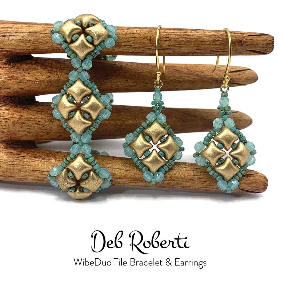 WibeDuo Tile Bracelet & Earrings