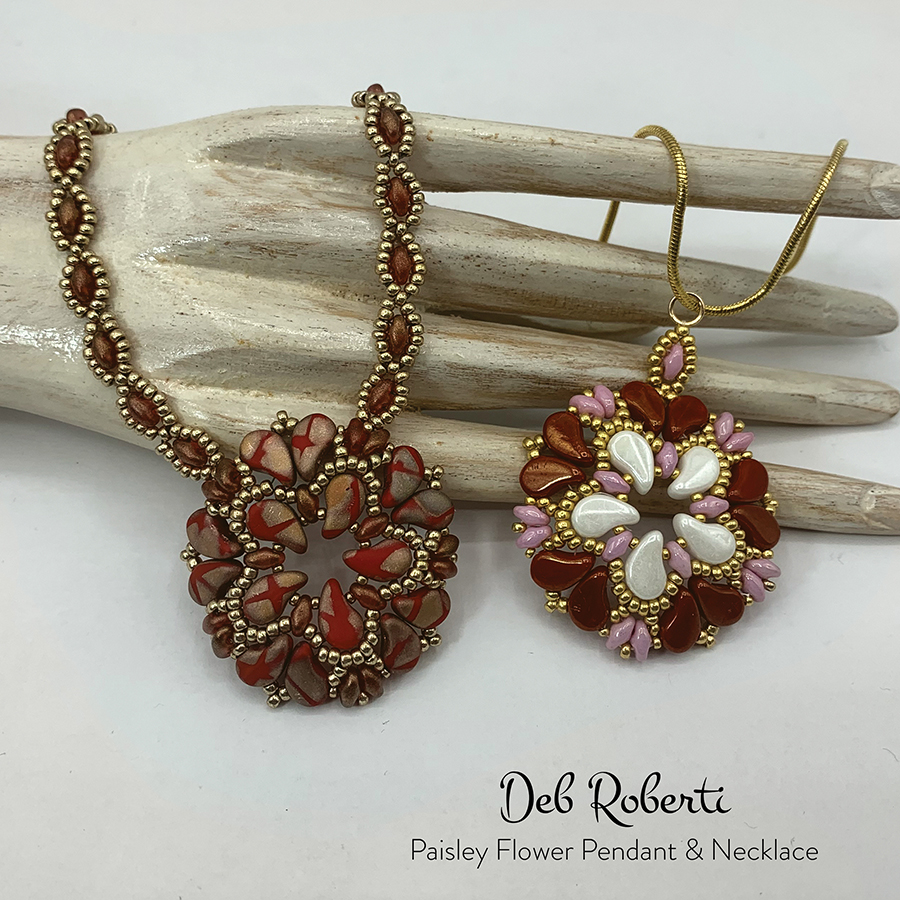 Paisley Flower Pendant & Necklace