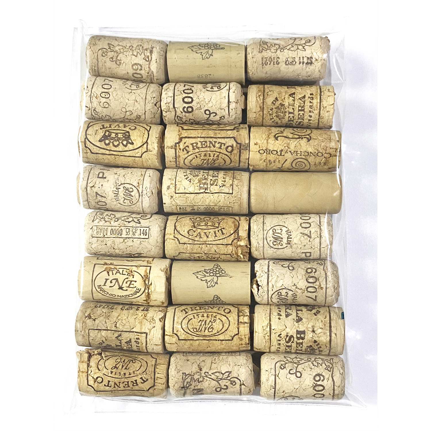 Wine Corks Assorted Recycled 24 Pack