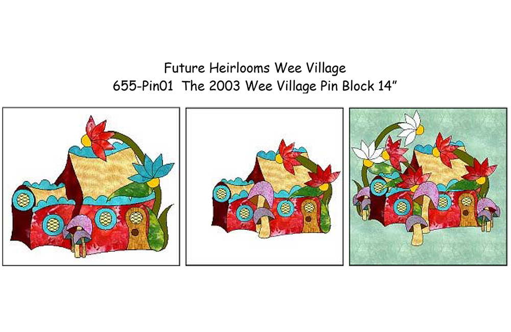 655-PIN The 2003 Wee Village Pin Block