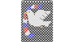 USA Dove Quilt Square