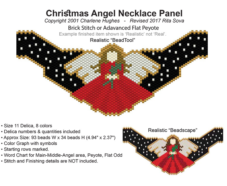 Christmas Angel Necklace Panel