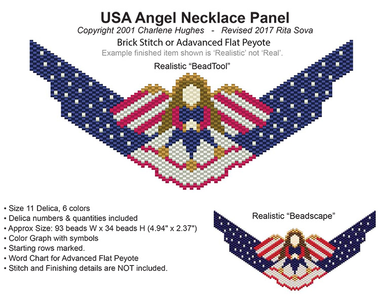 USA Angel Necklace Panel