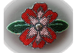 Red Dogwood Barrette