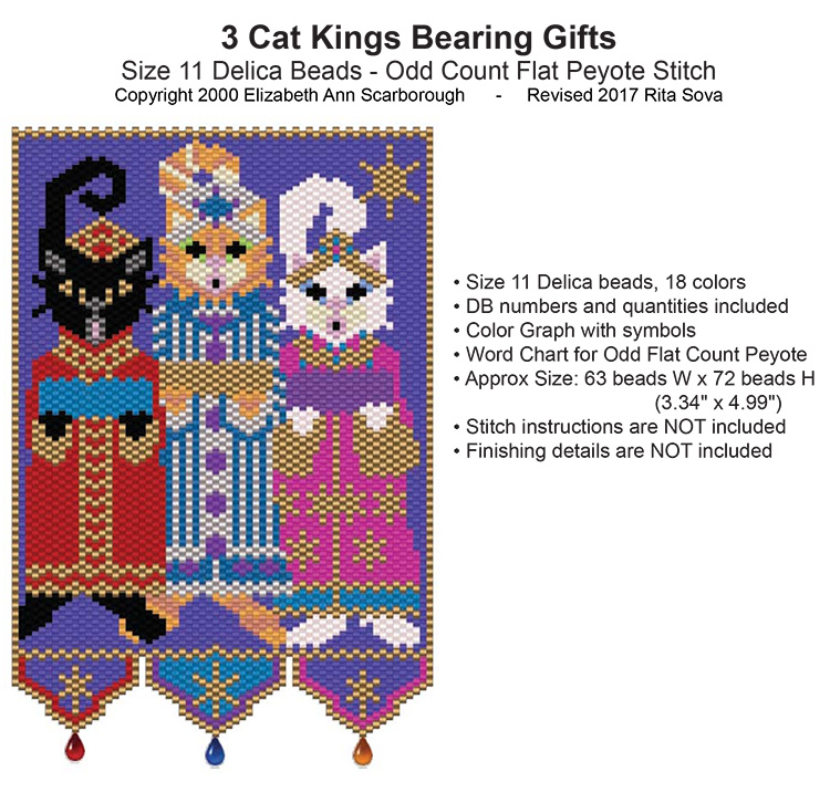 3 Cat Kings Bearing Gifts