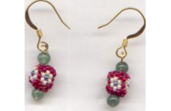 Little Beaded Bead Earrings