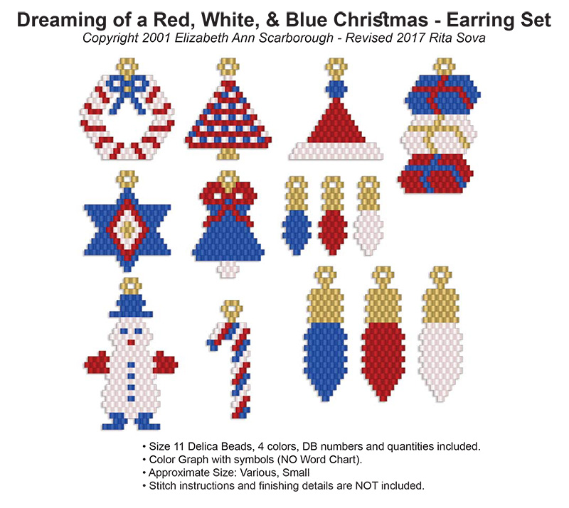 Dreaming of a Red, White, & Blue Christmas - Earring Set