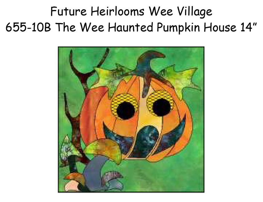 655-10B The Wee Haunted Pumpkin House