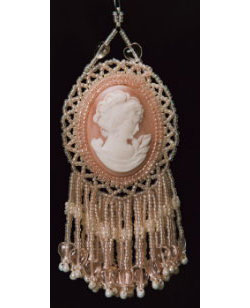 Double Cameo or Cabochon Tassel Ornament