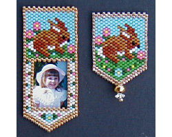 Baby Rabbit Photo Frame and/or Pin