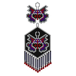 Goth Moth Earrings in Two Styles and Sizes