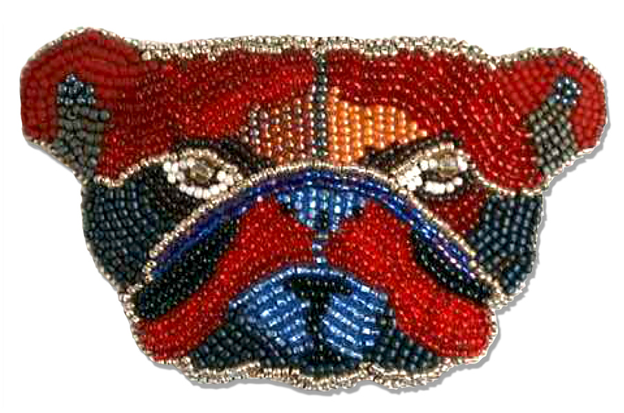 Calico Dog ~ Bull Dog Barrette