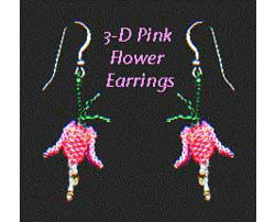 Dainty 3-D Flower Earrings