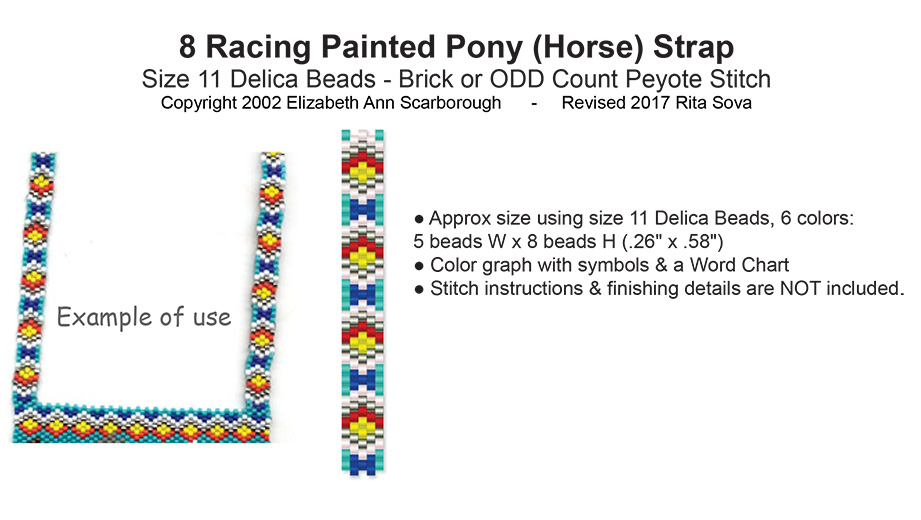 8 Racing Painted Pony (Horse) Strap