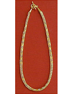 Herringbone Dot Dash Beaded Rope Chain