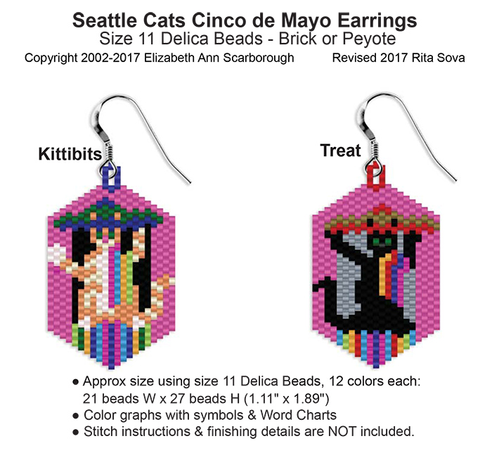 Seattle Cats Cinco de Mayo Earrings