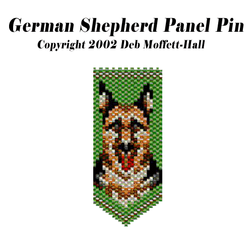 German Shepherd Panel Pin