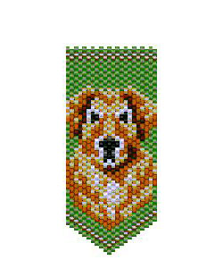 Golden Retriever Panel Pin