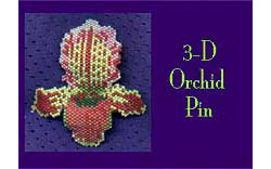 3-D Orchid Pin