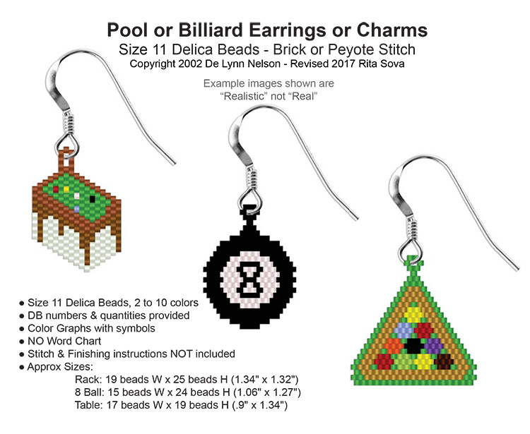 3 Pool or Billiard Earrings