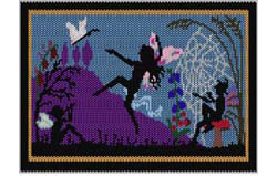 Fairies Dance Tapestry (word chart)