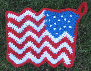 Waving Flag Potholder