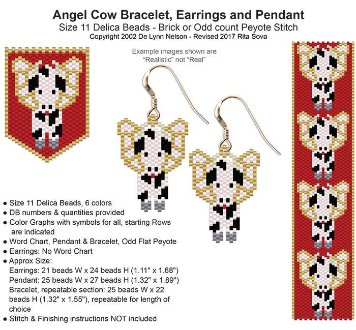 Angel Cow Bracelet, Earring and Pendant