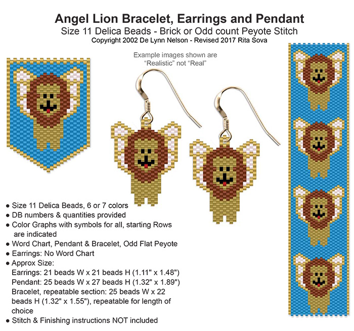 Angel Lion Earring