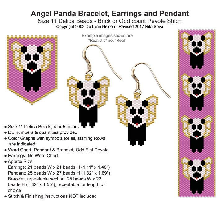 Angel Panda Earring