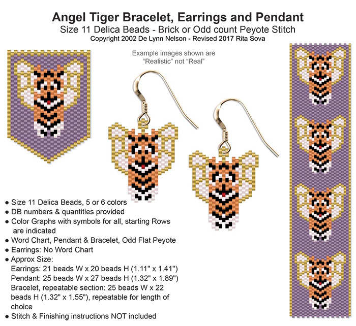 Angel Tiger Earring