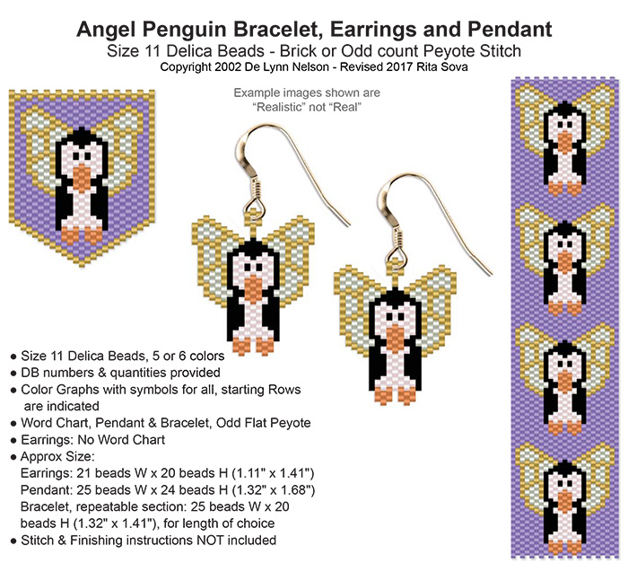 Angel Penguin Earring