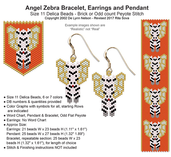 Angel Zebra Earring