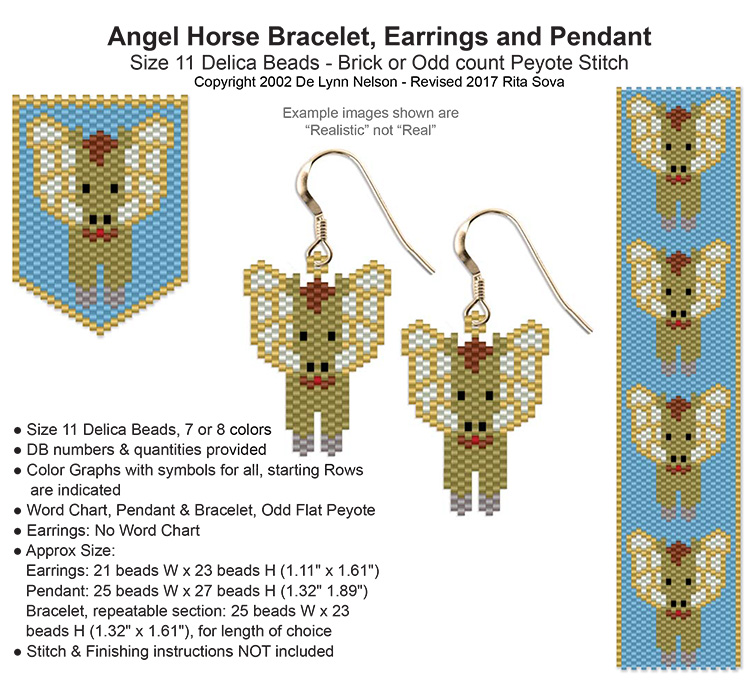 Angel Horse Earring
