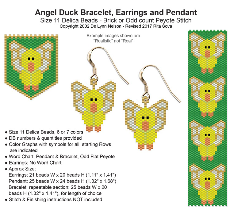 Angel Duck Earring
