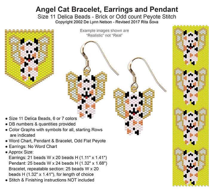 Angel Cat Earring