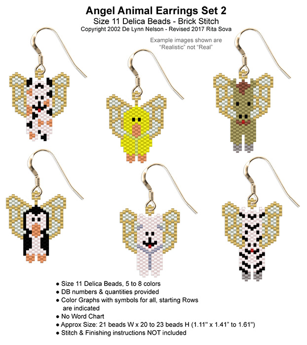 Angel Animal Earrings Set 2