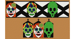 Day of the Dead Moldier, Skully and X Calaca Earrings and Bracel