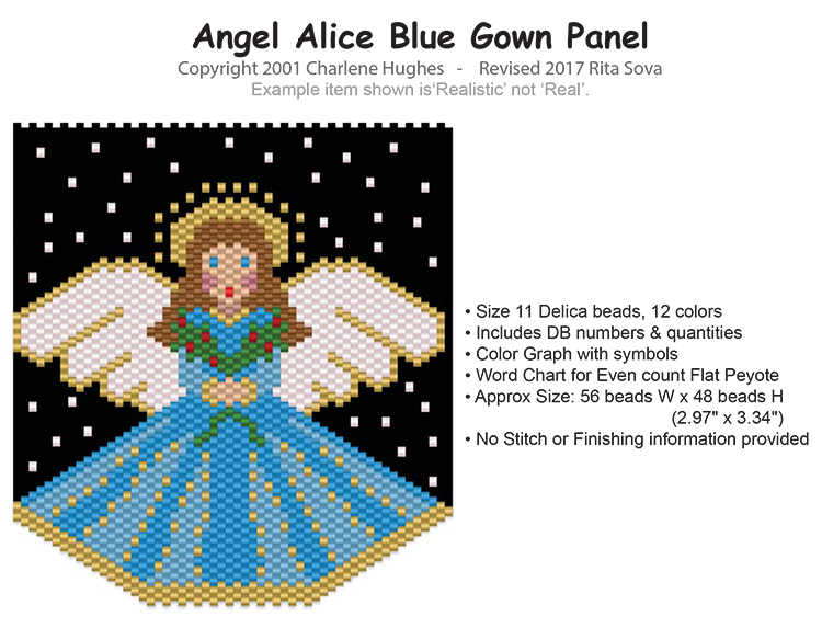 Angel Alice Blue Gown Panel