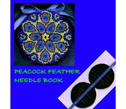 Peacock Feather Needle Book