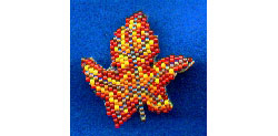 3-D Autumn Leaf Pin 1