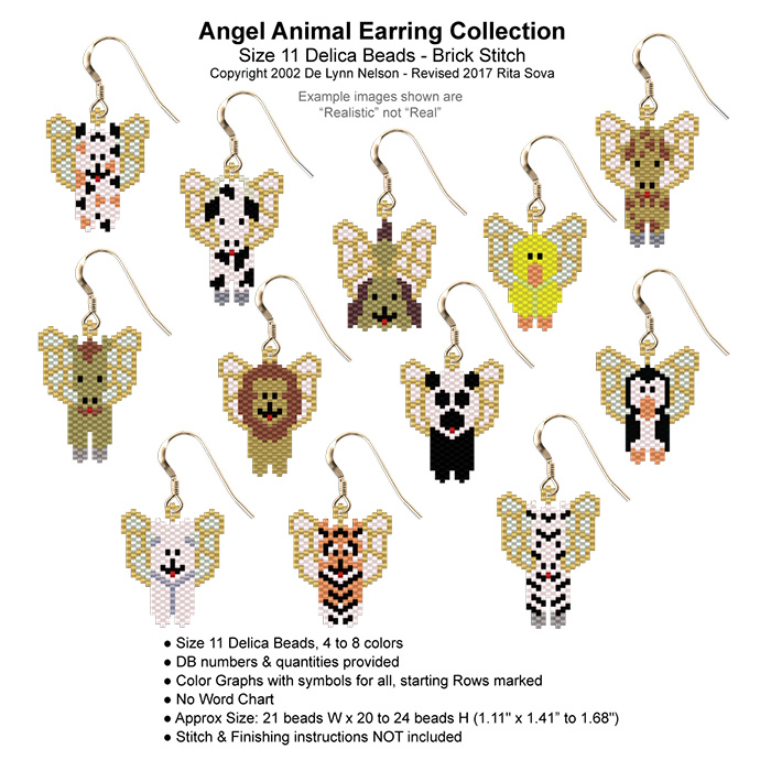 Angel Animal Earring Collection